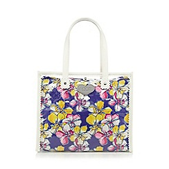 Floozie by Frost French - Blue orchid print lined bag