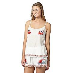 Butterfly by Matthew Williamson - Designer white floral embellished vest