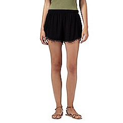 Butterfly by Matthew Williamson - Designer black pom pom detail shorts