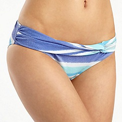Beach by Melissa Odabash - Blue striped sparkly bikini bottoms