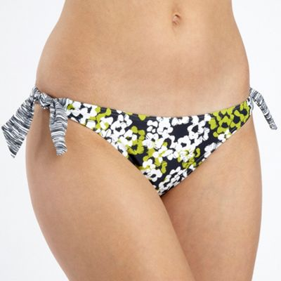 Green Monet Floral Tied Bikini Bottoms