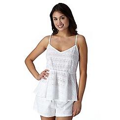 Iris & Edie - White heart woven beach camisole