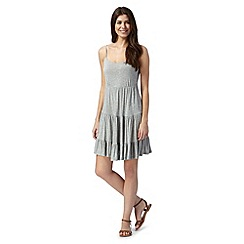 Iris & Edie - Grey jersey low back dress