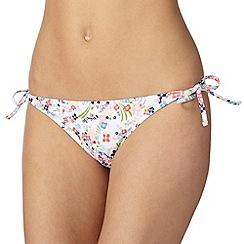 Iris & Edie - White ditsy floral bikini bottoms