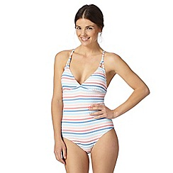 Iris & Edie - White striped swimsuit