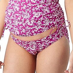 Beach Collection - Pink floral maternity swim pants