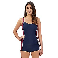 Maine New England - Navy splash effect tankini top