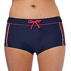 Maine New England - Navy splash effect swim shorts