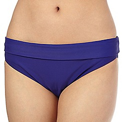 Beach Collection - Navy folded waistband bikini bottoms