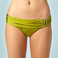 J by Jasper Conran - Green ring drape bikini bottoms