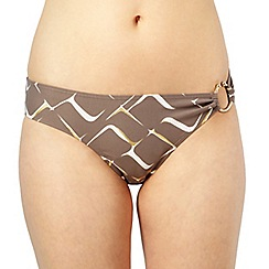 J by Jasper Conran - Designer taupe square patterned bikini bottoms