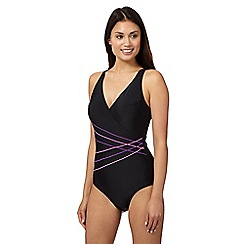 Beach Collection - Black crossover swimsuit