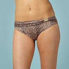 Beach by Melissa Odabash - Designer brown snake print bikini briefs