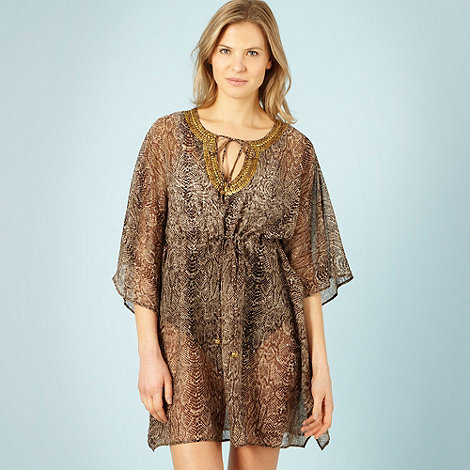 Beach by Melissa Odabash - Brown snake print kaftan