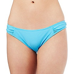 Beach Collection - Aqua ruched bikini bottoms
