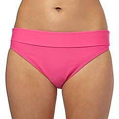 Beach Collection - Pink fold bikini bottoms