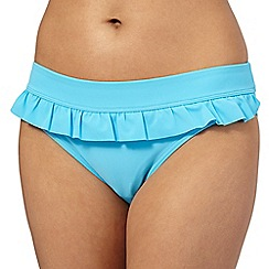 Beach Collection - Aqua frill bikini bottoms