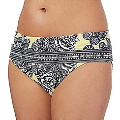 Beach Collection - Yellow floral bikini bottoms