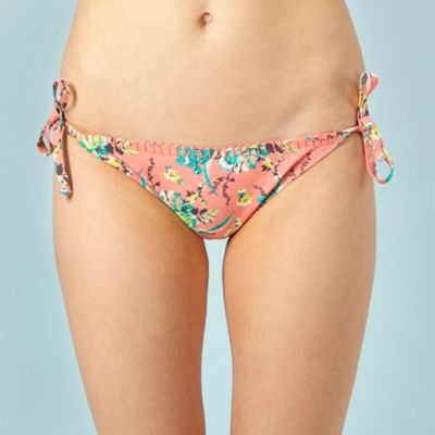 Butterfly by Matthew Williamson Dark peach parrot print bikini bottoms - . -