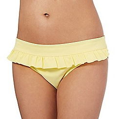 Beach Collection - Yellow frill bikini bottoms