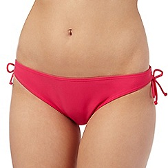 Gorgeous DD+ - Pink mock side tie bikini briefs