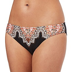 Butterfly by Matthew Williamson - Black paisley trim bikini bottoms