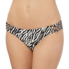 Butterfly by Matthew Williamson - Black zebra print bikini bottoms