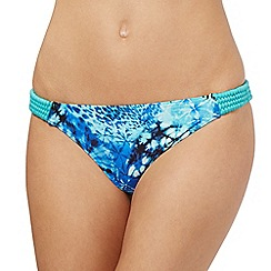 Butterfly by Matthew Williamson - Blue butterfly graphic reversible bikini bottoms