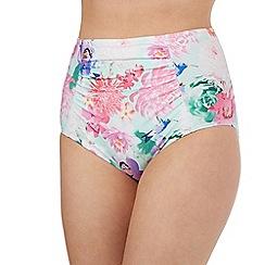 Reger by Janet Reger - Aqua floral bikini bottoms