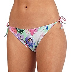 Reger by Janet Reger - Aqua floral tie side bikini bottoms