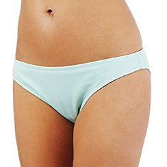 Reger by Janet Reger - Aqua textured underwired bikini bottoms