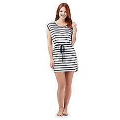 Beach Collection - Navy striped lace beach dress