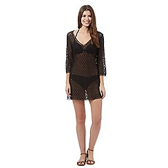 Lepel - Black cut-out lace kaftan