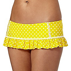 Floozie by Frost French - Yellow polka dot frill bikini bottoms