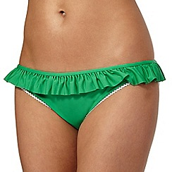 Floozie by Frost French - Green frill bikini bottoms