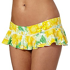 Floozie by Frost French - Yellow sunflower frill bikini bottoms