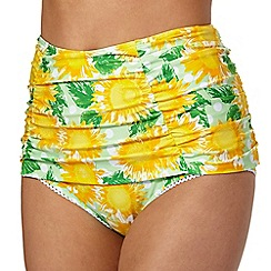 Floozie by Frost French - Yellow sunflower high waisted bikini bottoms