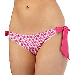 Floozie by Frost French - Pink hearts tie side bikini bottoms