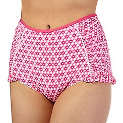 Floozie by Frost French - Pink hearts high waist bikini bottoms