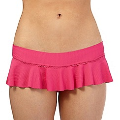 Floozie by Frost French - Pink textured skirt bikini bottoms