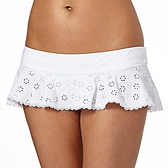 Floozie by Frost French - White broderie skirt bikini bottoms