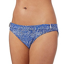 J by Jasper Conran - Navy broken striped print bikini bottoms
