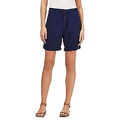 Beach Collection - Navy linen blend shorts