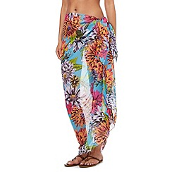 Beach Collection - Blue chrysanthemum sarong