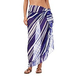 Beach Collection - Blue striped sarong