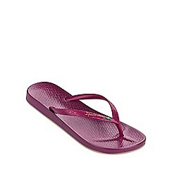 Ipanema - 'Beach' dark red flip flop