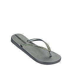 Ipanema - 'Sparkle' silver flip flop