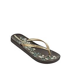 Ipanema - 'Petal IV' gold flip flop