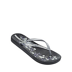 Ipanema - 'Petal IV' black  flip flop