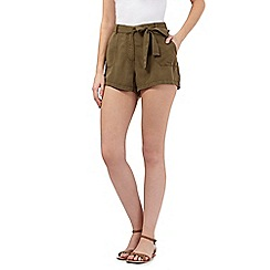 Beach Collection - Khaki twill shorts